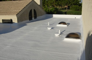 New foam roof installation by 1st Class